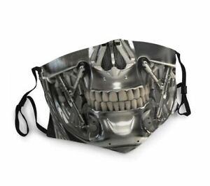 Robot - Terminator - Washable Face Mask Unisex Reusable
