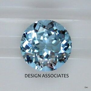 AQUAMARINE 4 MM  ROUND CUT OUTSTANDING BLUE COLOR ALL NATURAL