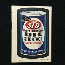 1974 SERIES 8 WACKY PACKAGES PACK HIGH GRADE TAN BACK STICKER STD OIL SHORTAGE