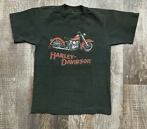 Vintage Harley Davidson Motorcycle T-shirt Sz XS Santa Ana California 80s Outlaw