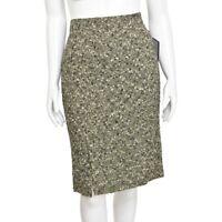 Dolce & Gabbana Sage Green/Cream Multi Boucle Knit Pencil Skirt size 10 US/46 IT