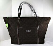 Vera Bradley Trimmed Vera Traveler Quilted Espresso XL Shoulder Tote Bag Hanbag
