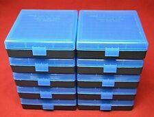 10 x 9mm/.380 Ammo Box / Case / Storage 100 Round Boxes each Blue Color