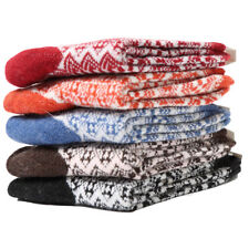 2 Pairs Unisex Multi-Color Comfort Cotton Wool Blend Sock Cosy Soft Warm Socks