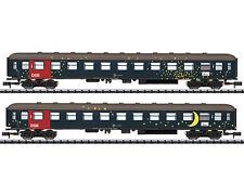 Minitrix 15480 - Personenwagenset Liegewagen DSB - Spur N - NEU