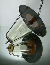 50s 50er Flurlampe Rockabilly Mid Century Metal Messing