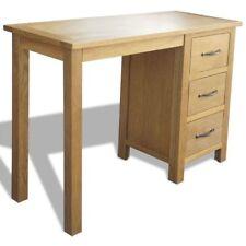 Wooden Desk Workstation with 3 Drawers Oak Furniture Bedroom Office 106x40x75 cm