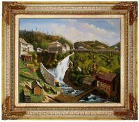 Gemälde Bad Gastein historisch, Ölbild, Ölgemälde HANDGEMALT Ölgemälde F:50x60cm