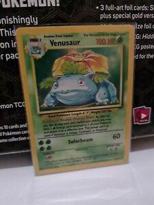 Base Set Venusaur Holo Rare Pokemon Card, 15/102 Excellent Condition