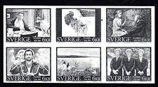 SLANIA/SJOOBLOM/NASZARKOWSKI ENGRAVED CENTENARY OF CINEMA PROOF/BLACK PRINT MNH