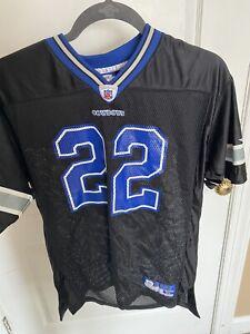 New Emmitt Smith Black and Blue Jersey Boys XL Dallas Cowboys #22 Reebok vintage