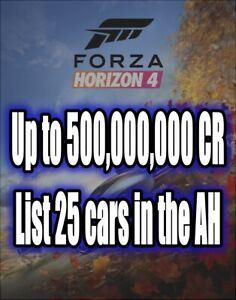 Forza Horizon 4 500,000,000 Credits XBOX PC STEAM