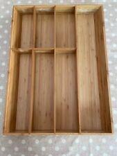 """Ikea Variera Flatware tray, bamboo15x20 """" - used"""