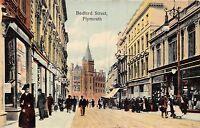 POSTCARD   DEVON   PLYMOUTH    Bedford  Street