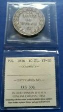 1836 HГ POLAND under RUSSIA 10 Złotych-1 1/2 Rouble Silver Coin ICCS VF-30