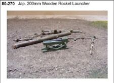 MGM 080-270 1/72 Resin WWII Japanese 200mm Wooden Rocket Launcher