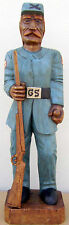 "Confederate Soldier, Hand Carved Wood,  40"" tall, sns42"