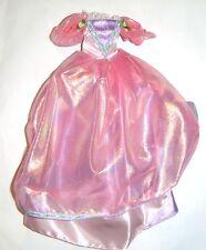 Barbie Ensemble Rapunzel Princess Pink Gown For Barbie Dolls dn54