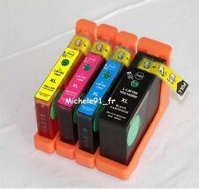 4 cartouches encre compatibles LEXMARK Impact S305 LM 100 XL LM100 XL puces