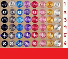 1 x colorido Aluminio Metálico Redondo Inicio botón pegatinas para Iphone 5s 5c 4s