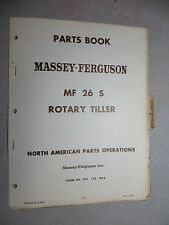 Massey Ferguson 26 S Rotary Tiller Parts Book