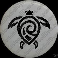 Disc Golf Custom Dye Stencil - Tribal Turtle (2 Pack)