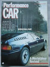 Performance Car magazine 03/1985 featuring Aston Martin V8, BMW M1, MG Maestro