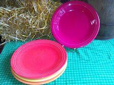 """4 DINNER PLATES set lot Poppy scarlet tangerine HOMER LAUGHLIN FIESTA  10.5"""""""