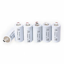 6 PCS 1.2V 1800mAh Sub C SC Type Ni-Cd NiCd Rechargeable Battery Batteries White