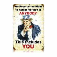 VINTAGE SIGN Refuse Service 12 x 18