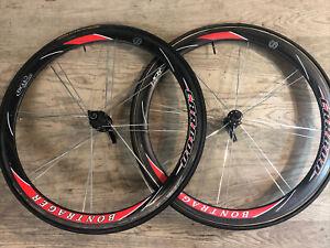 Bontrager Race X Lite 42mm Aero HCM OCLV Carbon Road Bike Wheelset 700cc Tubular