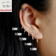 100% 925 Sterling Silver Earrings Mini Small Hoop Ear Bone Ring For Women Men