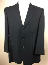 Ermenegildo Zegna Men's High Performance Wool Blue/Black Blazer Sport Coat 44 US
