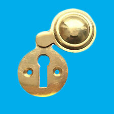 35mm Victorian Round Escutcheon Covered Brass Keyhole