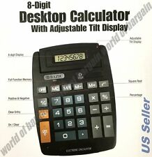 Large JUMBO CALCULATOR 8 Digits Display Hard Keys Solar & Battery Powered EL06