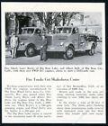 1950 Big Bear Lake & City California fire engine truck photo vintage article