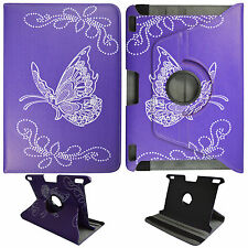 BUTTERFLY PURPLY FOLIO CASE KINDLE FIRE HDX 8.9 STAND 360 ROTATING TABLET COVER