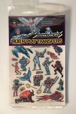 Vintage 1986 Colorforms Siverhawks Rub N' Play Transfers