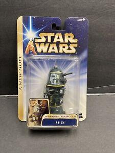 "Star Wars R1-G4 Tatooine Transaction Hasbro 2003 3.75"" Mint MOC A New Hope Droid"