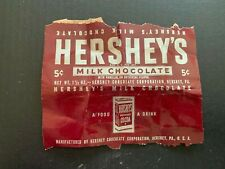Vintage Hershey's 5 Cent Candy Bar Wrapper