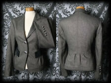 Goth Brown Fitted Tailored ROOKERY Victorian Riding Jacket 8 10 Vintage Formal