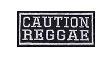 Caution Reggae Biker Patch Aufnäher Musik Music Ska Jamaika Jamaica Jazz Band