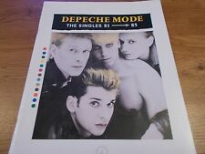 DEPECHE MODE CHORD MUSIC BOOK THE SINGLES 1981-85