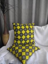 Funky Grey Yellow Geometric Cushion Cover