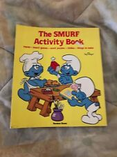 vintage Smurf Activity  Book 1983 softcover Peyo Rare