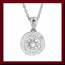 Scintillating 14k white gold necklace, 59 brilliant-cut diamonds = 1 carat M-F