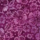 Benartex Fiesta Bali Blossoms Plum Violet BATIK Floral Quilt Fabric 6626-65