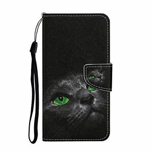 For Huawei P Smart Y5 Y6 Y7 2019 Case Painted Wallet Flip Card Stand Phone Cover