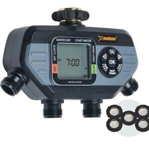 NOB Melnor 65038-AMZ KIT HydroLogic 4-Zone Digital Water Timer w/5 Washers