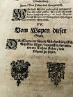 1500s INCUNABULA FOLIO - Holstein Chronicle, Lost City of Sunderburg
